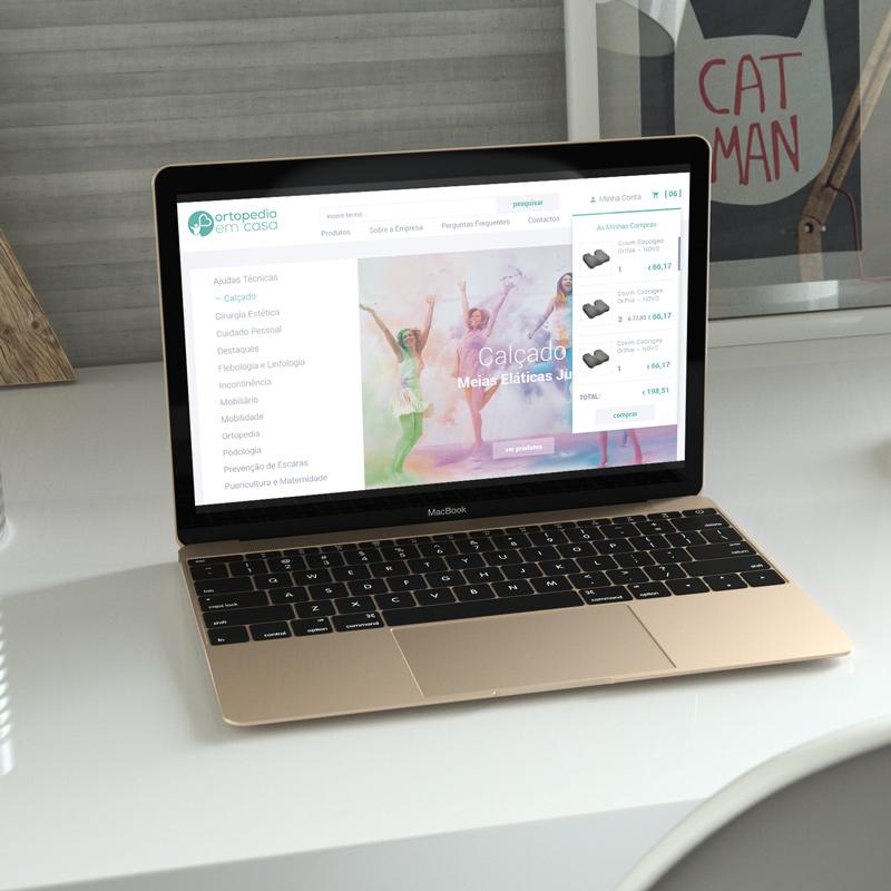 online store for Ortopedia em Casa