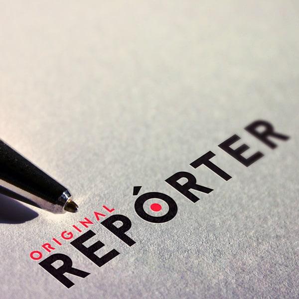 logotipo da original reporter