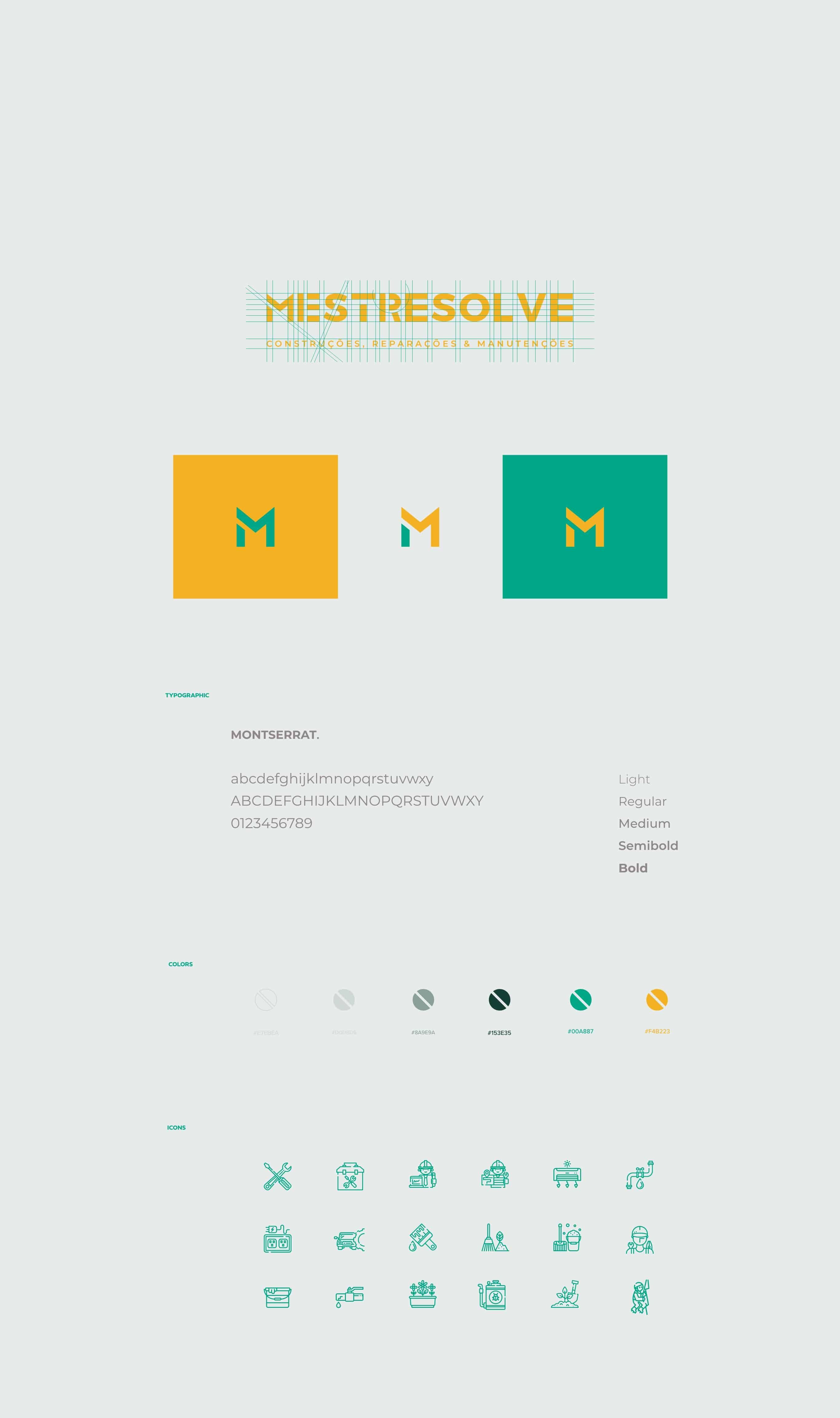 colors and fonts for mestre resolve