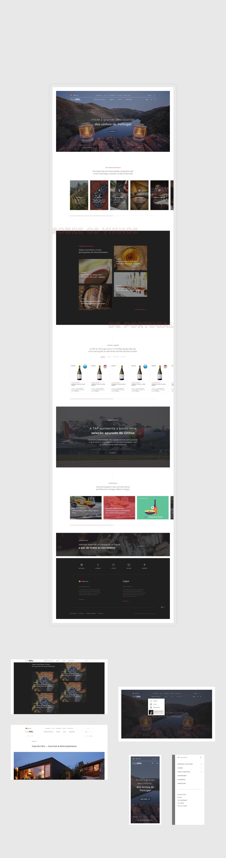 layout desenvolvido para tap wine experience