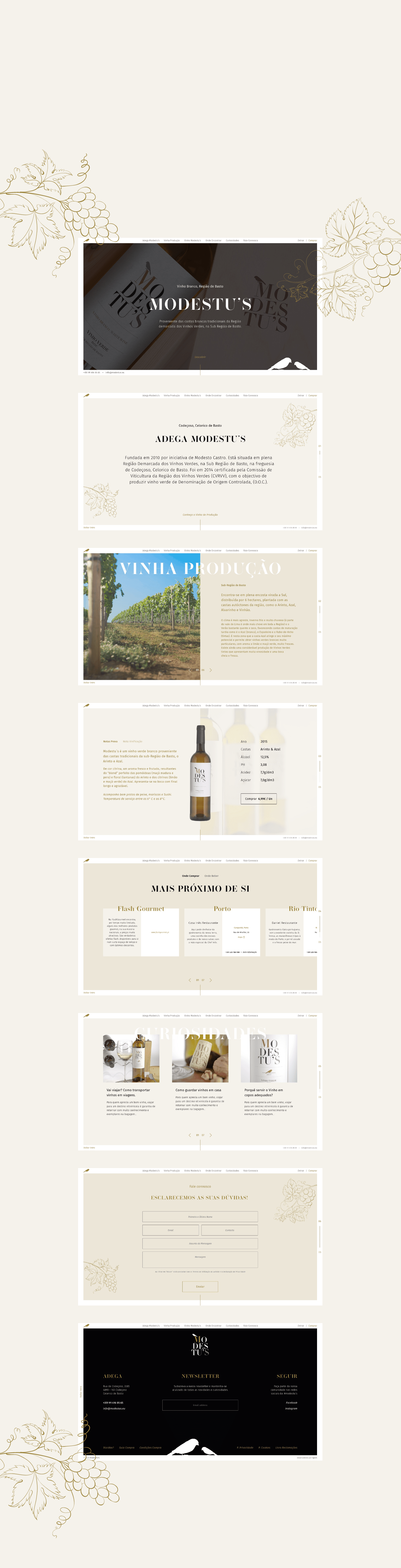 layout developed to online store