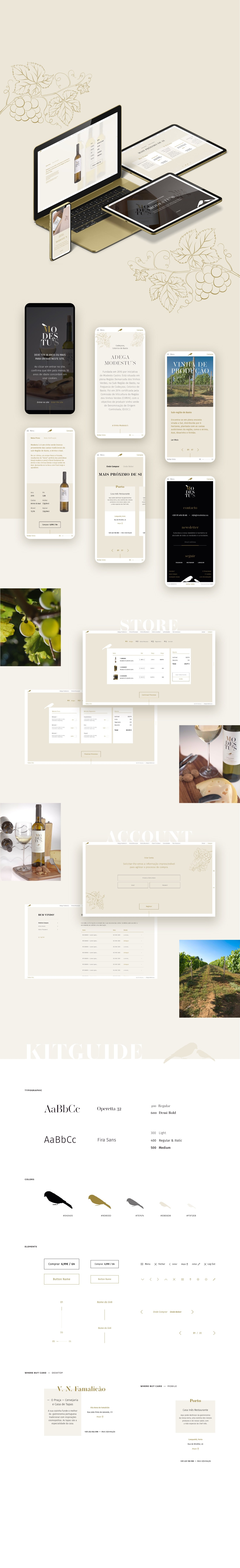layout developed for online store