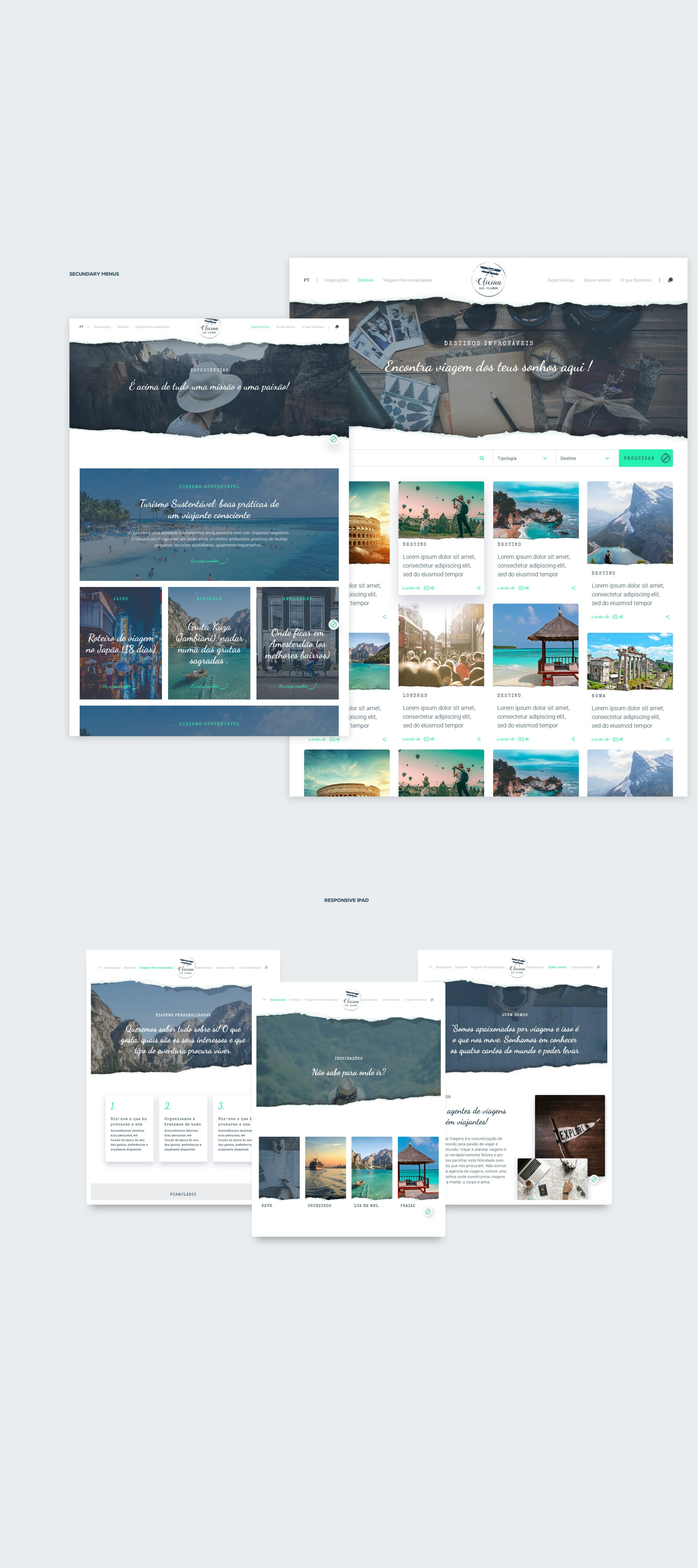 layout for website