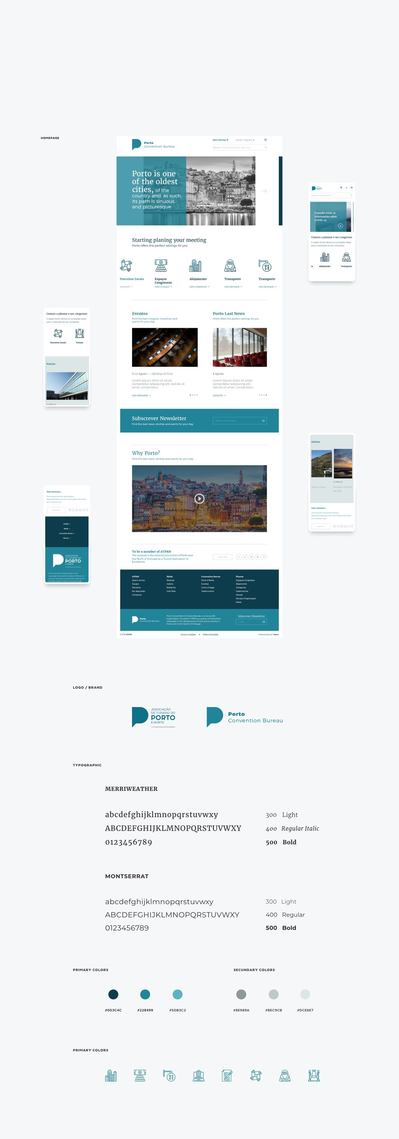 layouts for porto tourism website