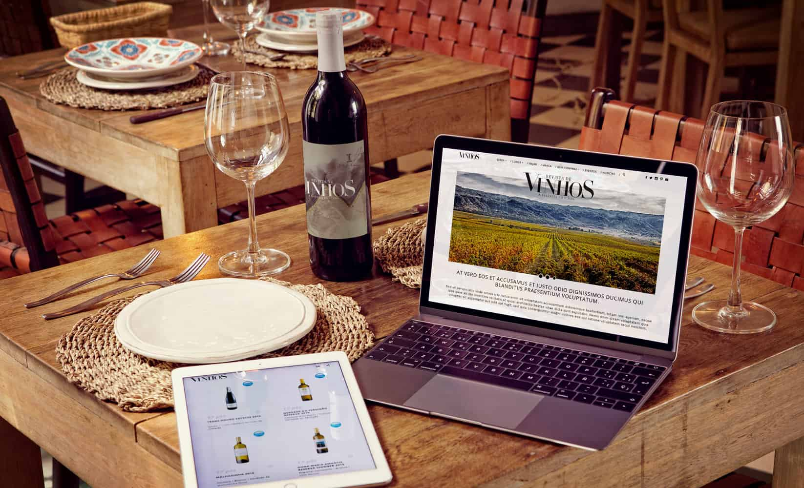 mockup for wine magazine